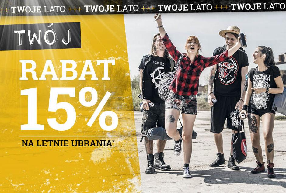 0258fcc998 Twój RABAT 15% na letnie ubrania