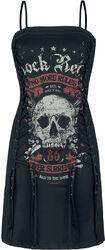 Rock Rebel Short Dress with Lacing