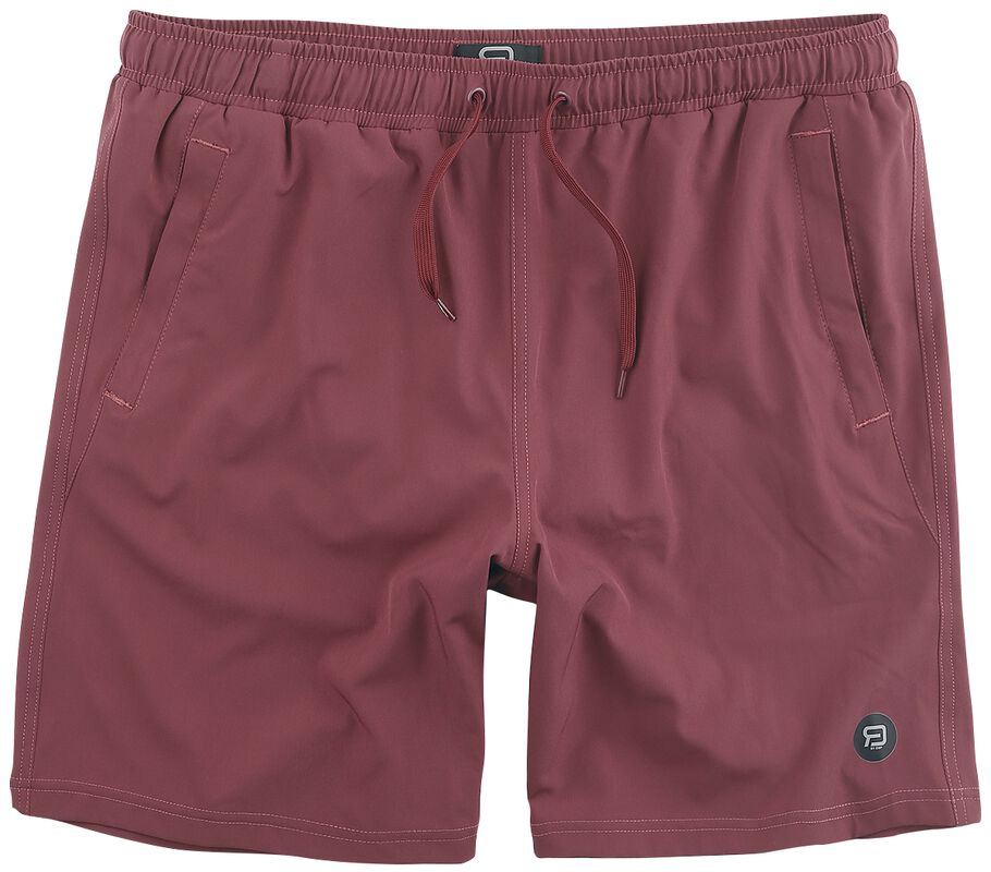 Dark Red Swimshorts with Magic Print