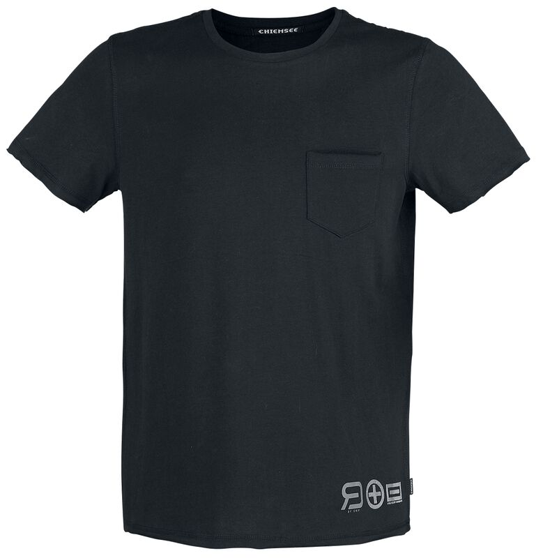 RED X CHIEMSEE - Black T-Shirt with Chest Pocket