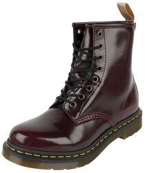 Vegan 1460 Cherry Red Oxford Rub Off 8 Eye Boot