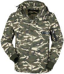 Between-seasons jacket with camouflage print