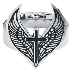 Winged Cross Ring