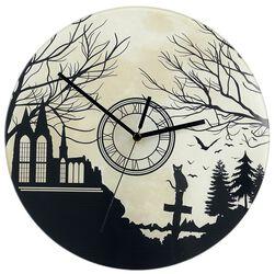 Glass Wall Clock Graveyard