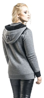 Knitted Hooded Jacket with Fleece Linint