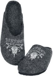 Grey Slippers with Viking Print