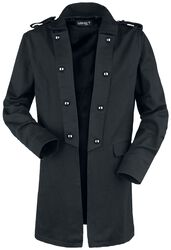 Short coat with turned up lapel