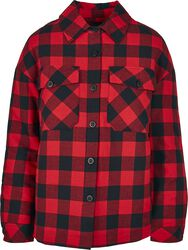 Ladies Flannel Padded Overshirt
