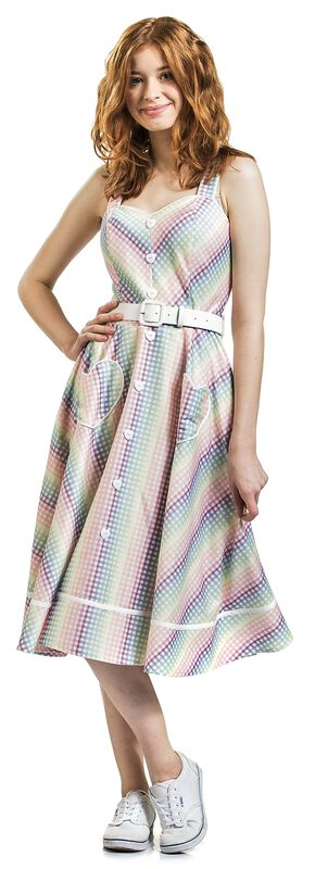 Trixie Gingham Heart Dress - Unreal Red Heads Collaboration
