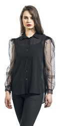Organza Sleeves See-Through Shirt