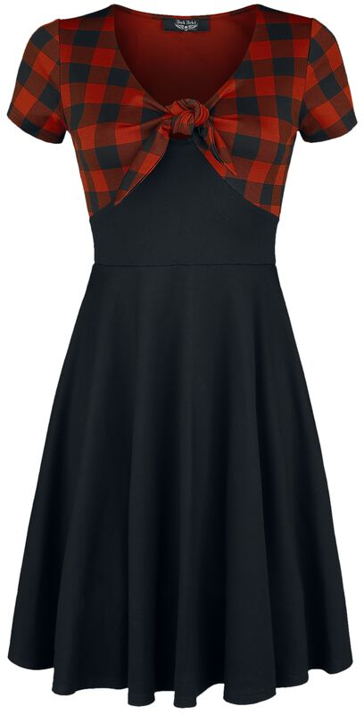 Rock Rebel Tie-Front Dress with Checked Pattern