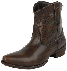 Black/Brown Cowboy Boots