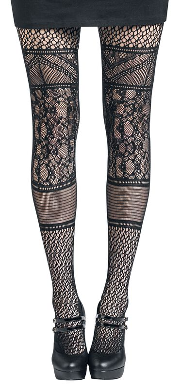Panelled Lace Tights