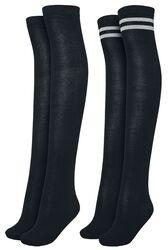 Ladies Overknee Socks 2-Pack