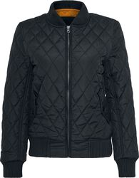 Ladies Diamond Quilt Nylon Jacket