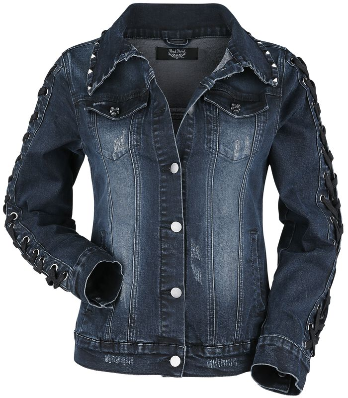 Denim Jacket with Lacing