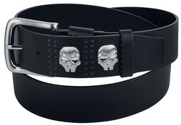 Black Belt with Skull Studs