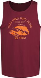 RED X CHIEMSEE - Red Tank Top with Print