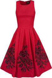 Annie Embroidered Roses Swing Dress
