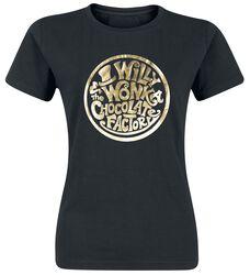 Charlie i fabryka czekolady Willy Wonka - Gold Foil Logo
