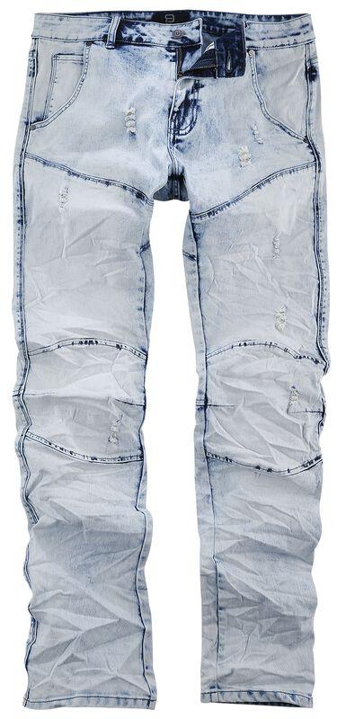 Jared - Helle Jeans in Knitter-Optik