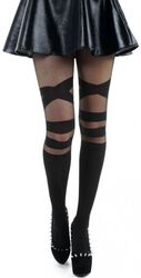 V Strap Sheer Tights