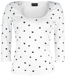 De Vil Mono Polka Dot Top