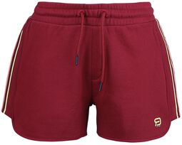 RED X CHIEMSEE - red shorts with logo print