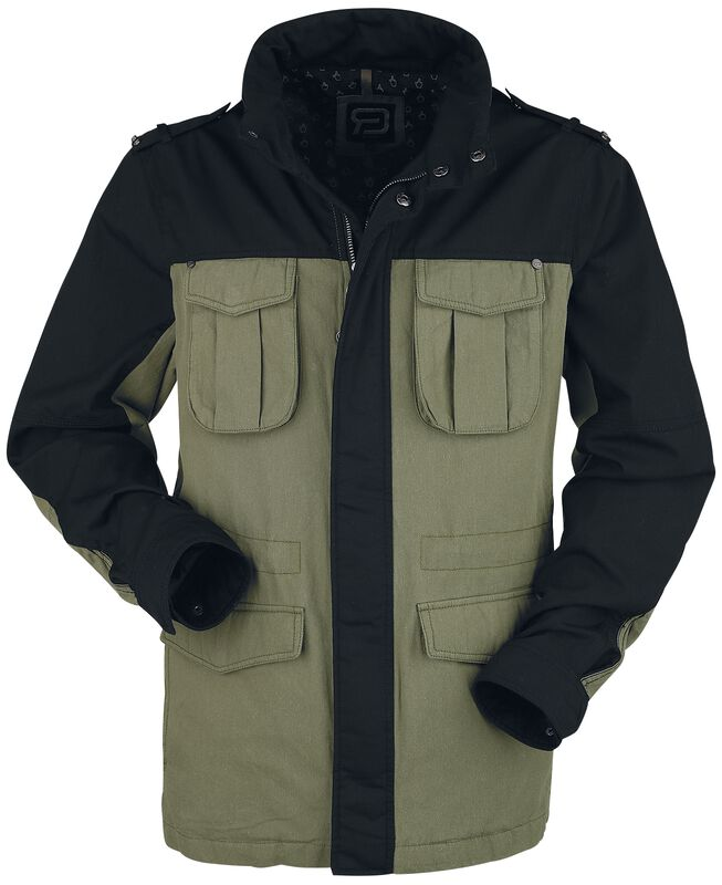 Two-Tone Between-Seasons Jacket with Pockets