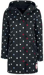 White Dots Softshell Girl Jacket black