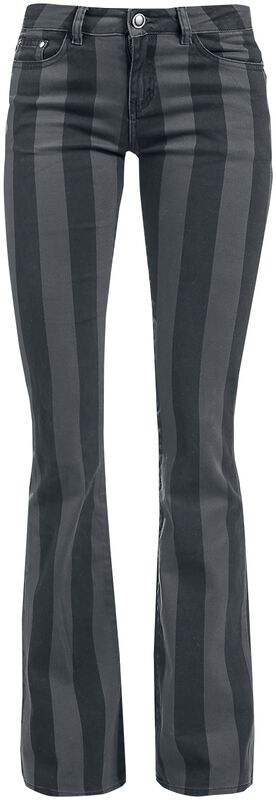 Grace - Black/Grey Striped Trousers