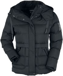 Black Winter Jacket with Quilting
