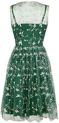 Tallulah Tulle Floral Embellished Flared Dress