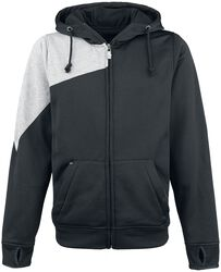 Black/Grey Hooded Jacket with Face Mask