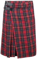 Red Kilt with Side Buckles
