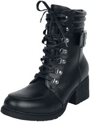 Lace-up boots with heel