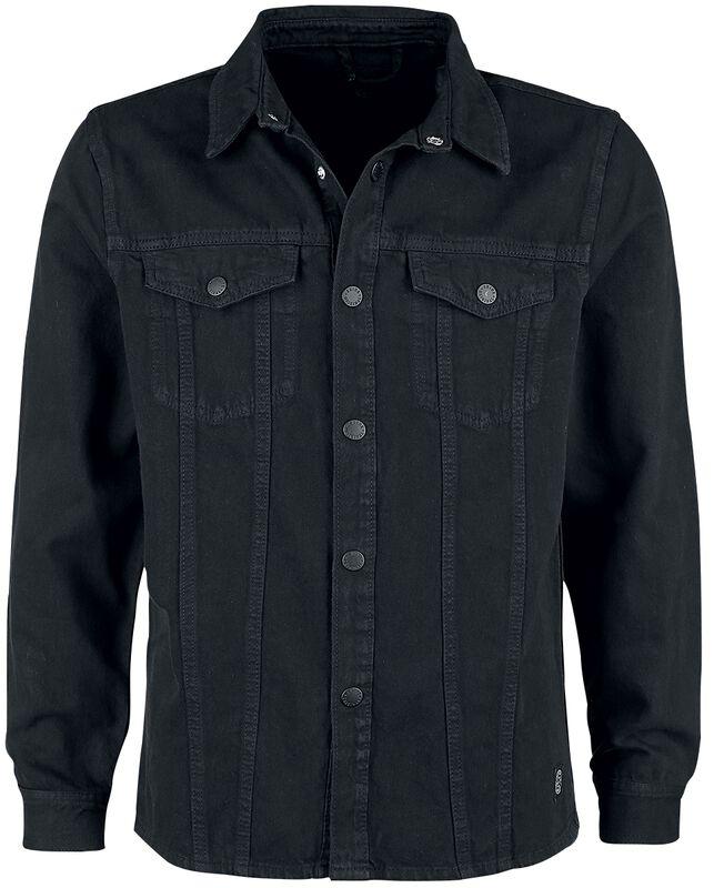 Denim Shirt Jacket Keep Black