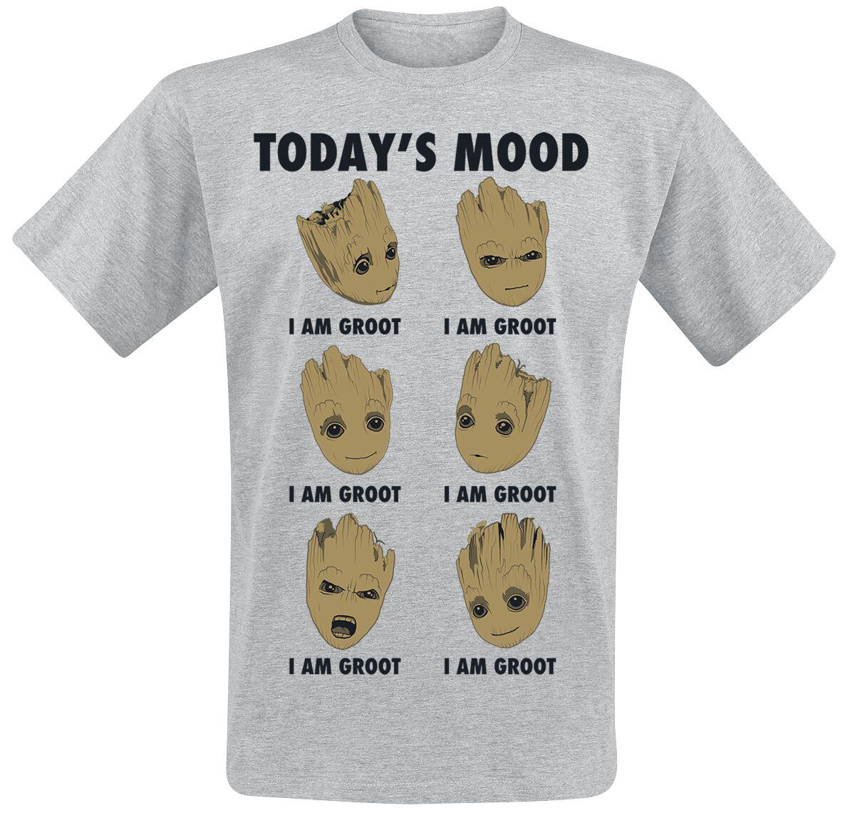 29cdb111c 2 - Groot Today's Mood | Guardians Of The Galaxy T-Shirt | EMP