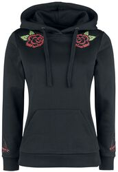Black Hoodie with Patches