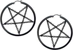 Pentagram Chain Hoops