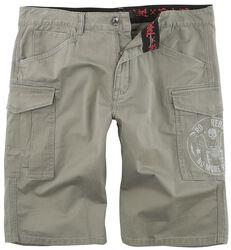 Grey Army Shorts