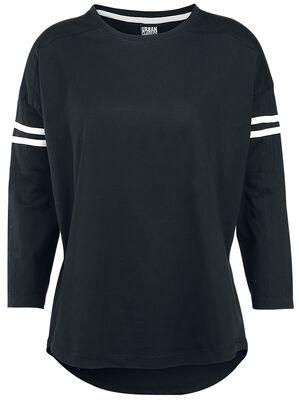 Ladies Sleeve Striped L/S Tee