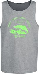 RED X CHIEMSEE - Grey Tank Top with Print