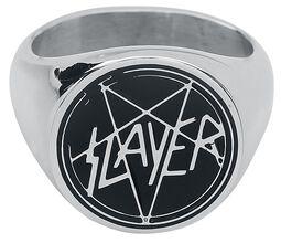 Slayer Silver Enamel Signetring