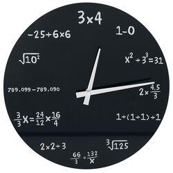 Zegar ścienny - Mathematics Glass Wall-Clock