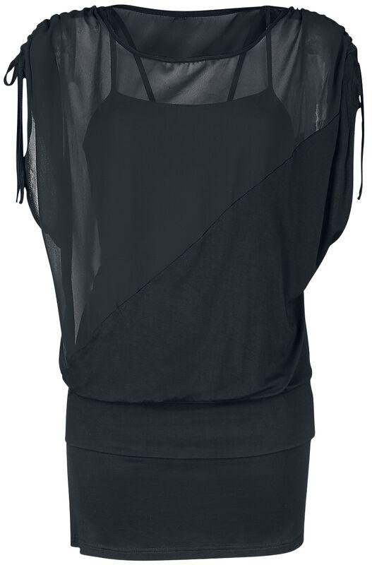 2 in 1 Side Sleeve Chiffon Dress