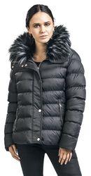 Fur Collar Short Puffer Coat