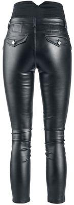 High Waist Imitation Leather Trousers