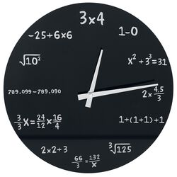 Zegar ścienny - Mathematics Glass Wall-Clock