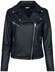 Ladies Faux Leather Biker Jacket